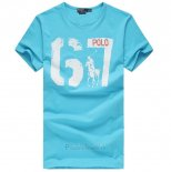 Ralph Lauren Homme T-shirt Number 67 Lake Bleu