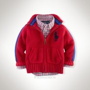 Ralph Lauren Enfant Pull Pony Polo Full Zip Rouge1