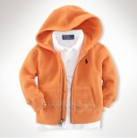 Ralph Lauren Enfant Sweatshirts Mesh Polo Zip Orange