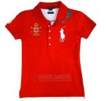 Ralph Lauren Femme Classic Fit Pony Polo Mercer Polo Rouge