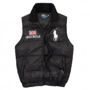 Ralph Lauren Homme Gilet Matelasse Pony Polo Flag Great Britain Noir