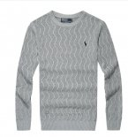 Ralph Lauren Homme Pull Round Neck Mesh Polo Gris