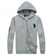 Ralph Lauren Homme Sweatshirts Match 3 Pony Polo Full Zip Clair Gris