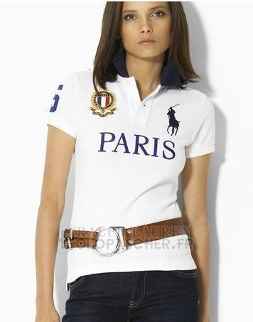 Ralph Lauren Femme City Polo Paris Blanc