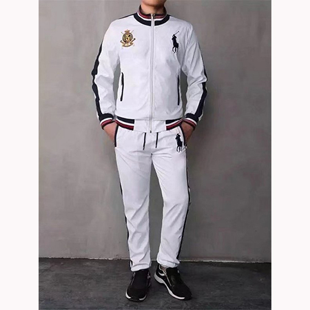 Ralph Lauren Homme Polo Ensemble Survetement Blanc