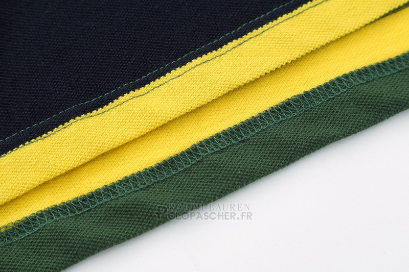 Ralph Lauren Homme Pony Polo Stripe Polo Army Vert Jaune