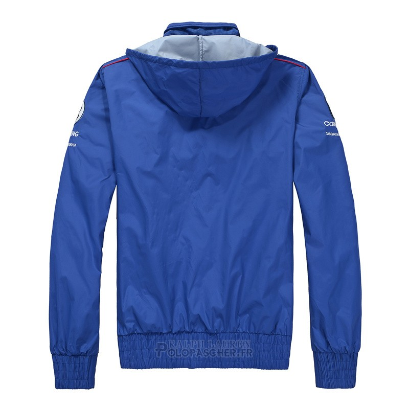 Ralph Lauren Homme Vestes Hooded Pony Polo 1967 Bleu